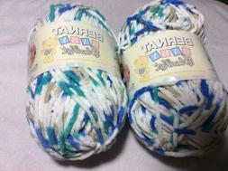 Bernat Baby Blanket Yarn 2 Large Skeins Picnic Time
