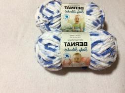 Bernat Baby Blanket Yarn 2 Skeins Little Denim