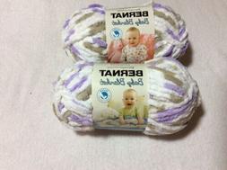 Bernat Baby Blanket Yarn 2 Skeins Little Lilac Dove