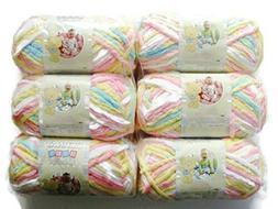 BERNAT Baby Blanket Yarn, 3.5oz, 6-PACK  161103