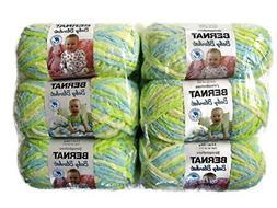 BERNAT Baby Blanket Yarn, 3.5oz, 6-Pack Little Dinosaurs
