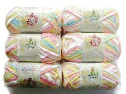 Bernat Baby Blanket Yarn, 3.5Oz, 6-Pack