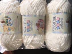 Bernat Baby Blanket Yarn Bulk Lot Vanilla