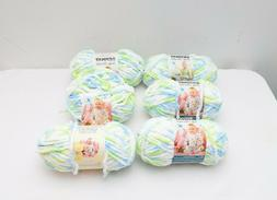 Bernat Baby Blanket Yarn-Funny Prints 2 3.5 ounce skeins