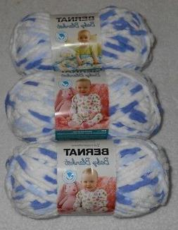 Bernat Baby Blanket Yarn Lot Of 3 Skeins  3.5 oz. Skeins