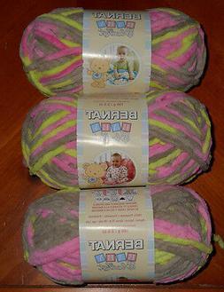 Bernat Baby Blanket Yarn Lot Of 3 Skeins  3.5 oz. Skein