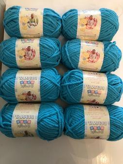 Bernat Baby Blanket Yarn Lot of 8 Baby Teal 100% Polyester 3