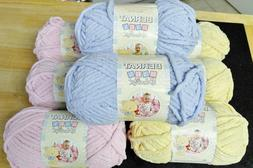 Bernat Baby Blanket Yarn Lot Of 8 Skeins3.5 oz. Skeins