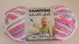 BERNAT BABY BLANKET YARN PINK BLUE 3.5 OZ