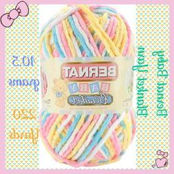 BERNAT BABY BLANKET YARN - PITTER PATTER Yellow/Blue/Pink/Wh