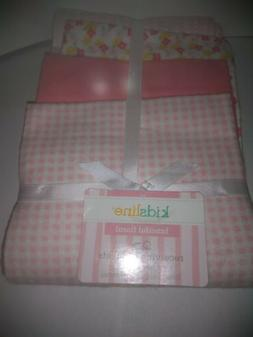 Baby Blankets 4 Pack Flannel Receiving Pink Soft Warm Cozy C