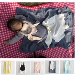 Baby Blankets For Girls Boys Cute Rabbit Ear Knitted Beach B