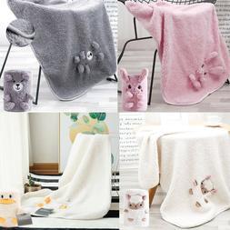 Baby Blankets, Nursery Baby Bedding Blanket Grey, 2-Sided Sh