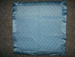 Baby Blue Minky/Satin Blanket, different sizes available
