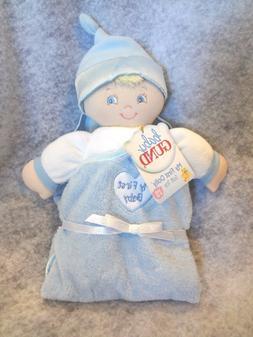 Baby Gund Blue Plush Baby Boy MY FIRST BABY Security Blanket