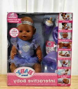 Dark Brown Eyes Baby Born Interactive Baby Doll
