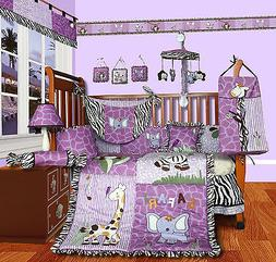 Baby Boutique - Safari - 14 Pcs Girl Nursery Crib Bedding Se