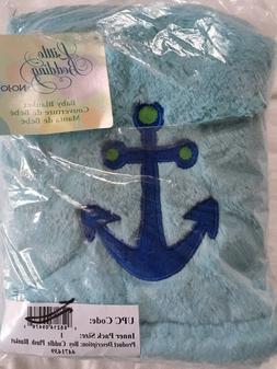 """Baby Boy Blue Anchor Blanket 30"""" X 40"""""""