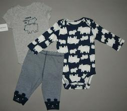 Baby boy clothes, 9 months, Carter's 3 piece set/ SEE DETAIL