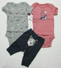 Baby boy clothes, NEWBORN , Carter's  3 piece set new with t