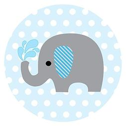 Baby Boy Elephant Stickers for Baby Shower and Birthday Favo