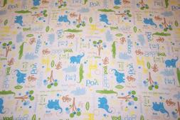 Baby Boy Flannel Blanket Receiving Swaddling Jungle Animals