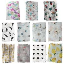 Baby Boy Girl Muslin Cotton Wrap Swaddling Blanket Newborn I