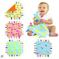 Baby Boy Girl Security Blanket Comforter Velvet Cloth Soft T