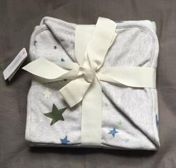 Baby Boy One Size Gymboree Gray Star Print Receiving Blanket