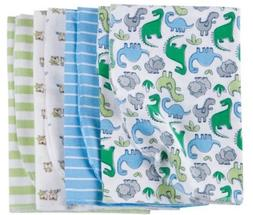 GERBER BABY BOY'S 4-Pack Flannel Receiving Blankets - Dinosa