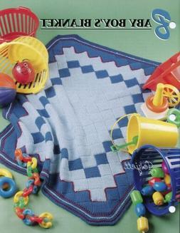 Baby Boy's Blanket Afghan, Annie's Tunisian crochet pattern