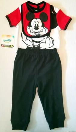 Disney Baby Boy's Outfits Mickey Mouse Bodysuit Diaper Cover