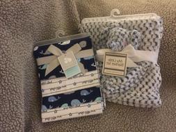 Baby Boy's Soft Blanket and Security Blanket Set & 4 Receivi