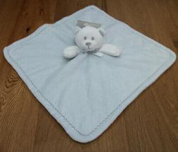 Blankets & Beyond Baby Boy Security Blanket ~ Pale Blue & Wh