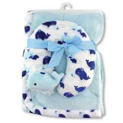 BABY BOY SOFT BLUE SEA LIFE WHALE BABY BLANKET & BABY BOY NE