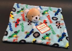 KIDGETS Baby Boy ZOOM BEAR Race Car Security Blanket Lovie L
