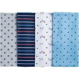 "4pcs Baby Unisex Nursing Wrap Flannel Receiving Blankets Pack 30/""x 30/"" Set B"