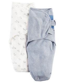 Carter's Baby Boys' 2-Pack Babysoft Swaddle Blankets - Mediu