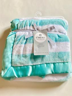Carter's Baby Boys Girls Plush Blanket Supersoft with Satin