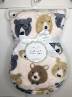 Baby Boys Infants Bears Plush Blanket 30x40 Soft Gift Shower