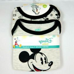 Baby Boys Disney Mickey Mouse Infant One Piece Bodysuit Shor