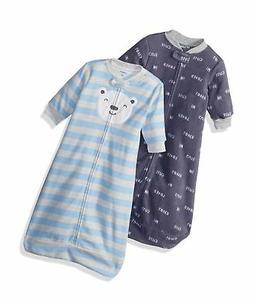 Carter's Baby Boys 2-Pack Microfleece Sleepbag, Blue Bear Sc