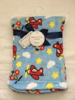 Baby Boys Plush Airplane Blanket Shower Gift Soft Blankie 30