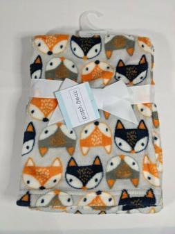 Baby Boys Plush Blanket, Shower Gift, 30x36, Fox, Animal, So