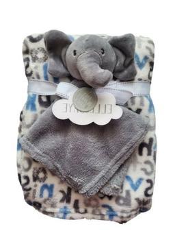 Baby Boys Plush / Security Blanket Combo Gift Set, Elephant