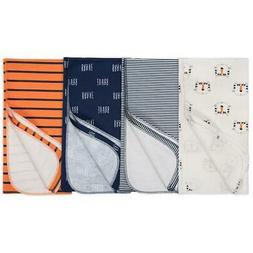 """Gerber Baby Boys' 4-Pack Receiving Blanket, Happy Tiger, 30"""""""