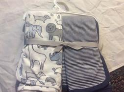 Carter's Baby Boys' 2-Pack Swaddle Blankets, Safari, One Siz