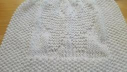 Baby Butterfly baby blanket.easy knitting pattern **BEGINNER