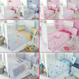 Baby Cot bed BUMPER SET Nursery BEDDING SET fit 140x70 Quilt
