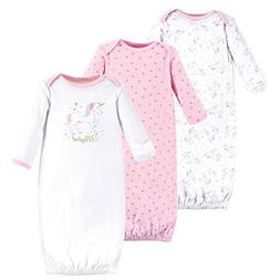 baby cotton gowns magical unicorn 3 pack
